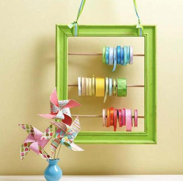 Organize Ribbon In A Photo Frame
