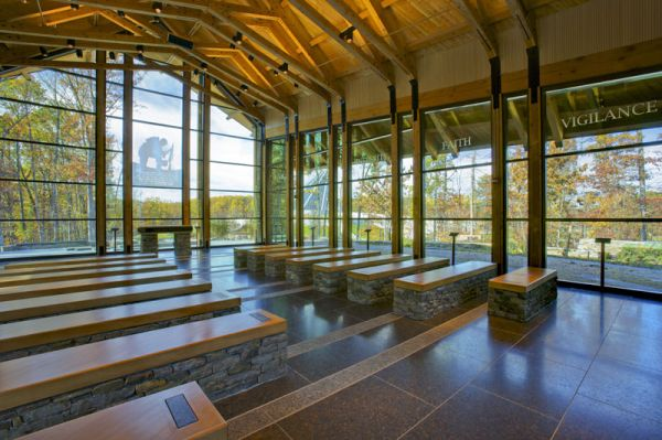 Modern memorial chapel in virginia - Interior design certification virginia ...