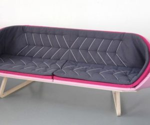 Layered Sofa With An Unusual Shape Photo
