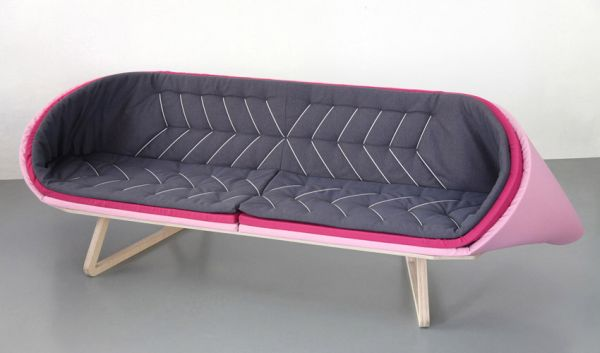 Layered Sofa With An Unusual Shape