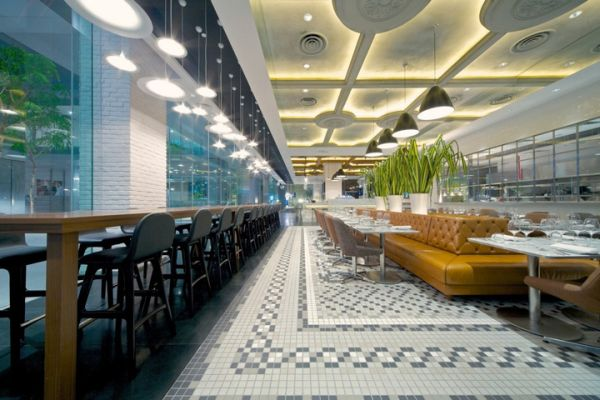 The exchange restaurant interior design in Singapore
