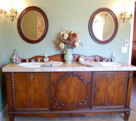 Vintage bathroom sideboard