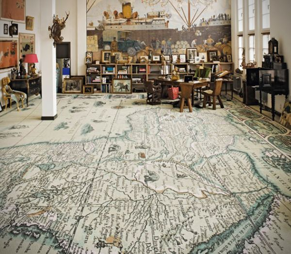 Innovative world map carpets by Area Pavimenti