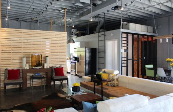 an old auto body shop transformed into a live work space. Black Bedroom Furniture Sets. Home Design Ideas