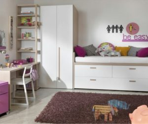 The compact Bed with storage for kids room