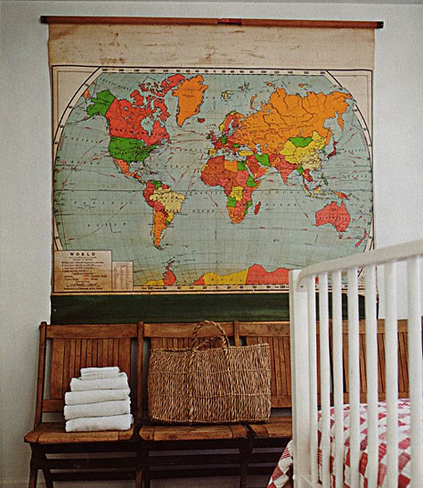 10 Great Ideas To Jazz Up A Small Square Bedroom: 8 Unique And Fun Ways To Decorate With Maps