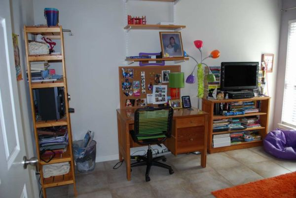 Fun and functional teen workstation makeover