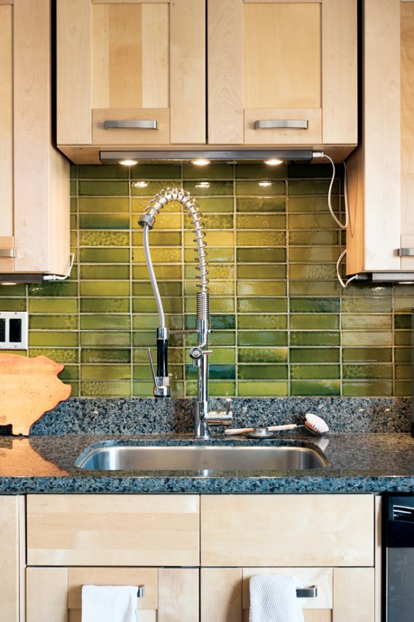 Kitchen Backsplash Green 6 diy rustic backsplashes for your kitchen