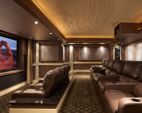 Brown home theatre