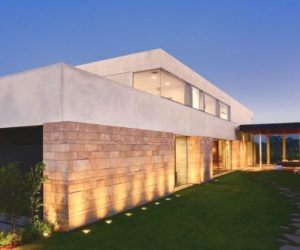 Two-storey contemporary home with a beautiful view