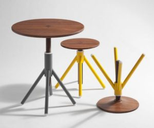 Stools and tables with an industrial feel by Flip Sellin