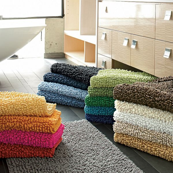 company cotton chunky bath rug Bathroom Rugs
