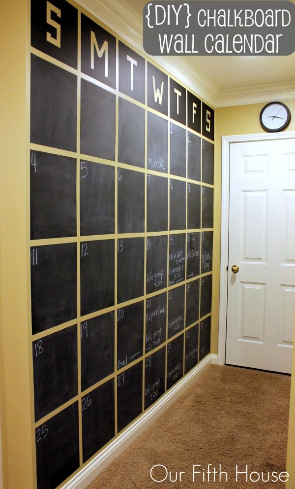 The Ultimate Wall Calendar for Your Home or Office Whether you are looking to get or stay organized this gorgeous chalkboard calendar is going to help.