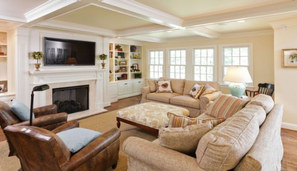 Classic Paint Colors For Open Family Room And Kitchen