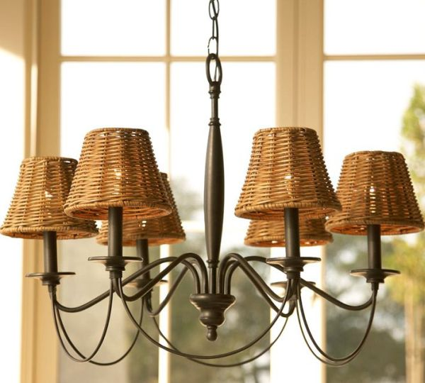 Amazing Graham Wicker Chandelier