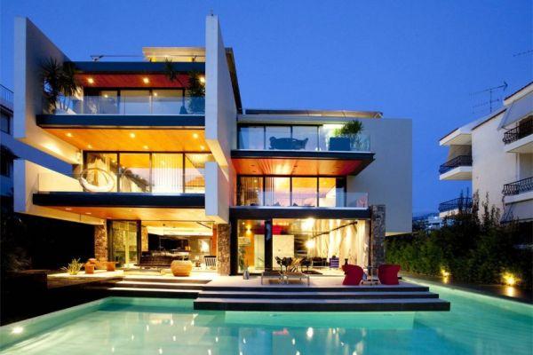 A contemporary trio residence in greece - Modern architectural trio ...