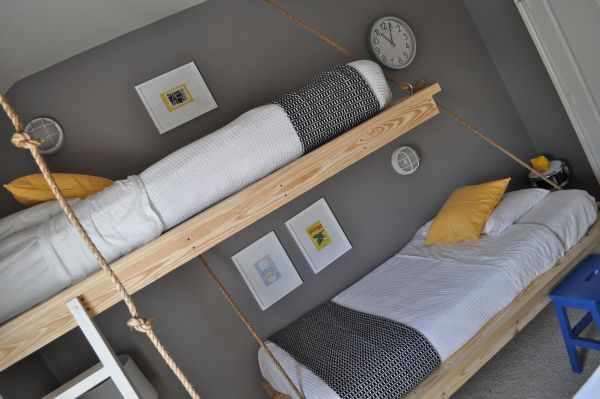 Creative Boys Room Decor With Hanging Beds