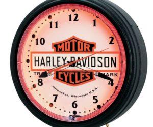 Nostalgic Neon Harvey Davidson Clock