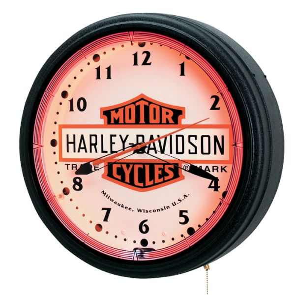 Wonderful Nostalgic Neon Harvey Davidson Clock Amazing Ideas