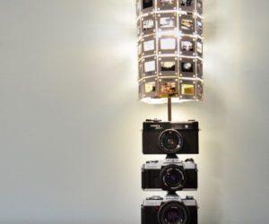Original Upcycled Camera Lamp
