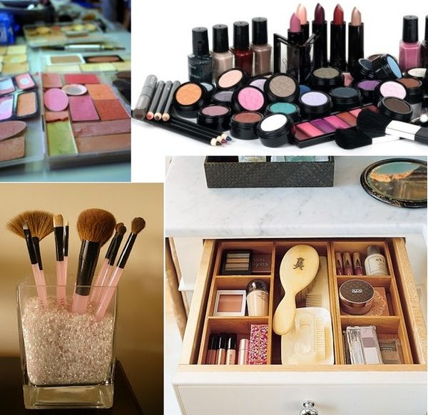 Ideas for Organizing Makeup