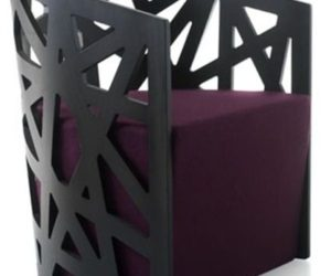 The stylish and comfortable Mazy armchair