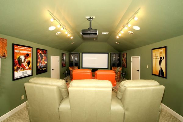 Decorating A Stylish Comfy Movie Room