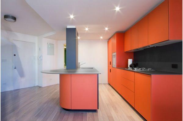 Orange Modern Kitchen white and orange modern kitchenmorris sato studio
