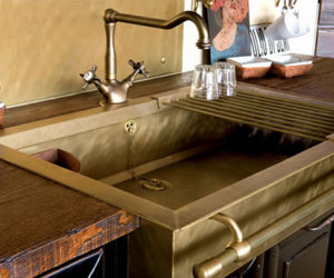 ... Stylish Brass Sinks With A Retro Look