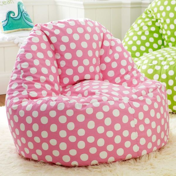 doted leanback lounger for kids room. Black Bedroom Furniture Sets. Home Design Ideas