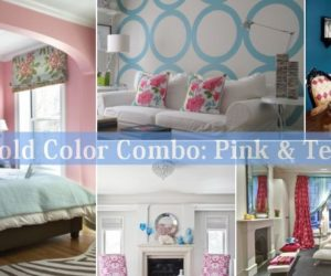 Bold Color Combo: Pink & Teal