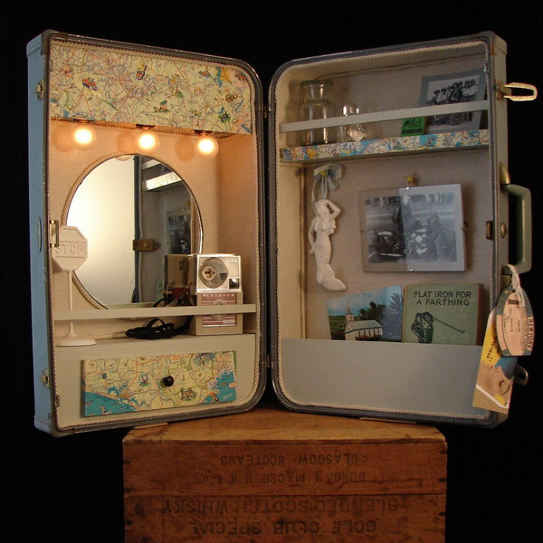 40 creative ways of re using old suitcases for Spiegel upcycling