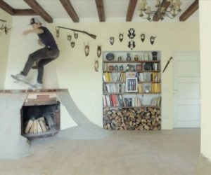 Villa transformed into an indoor skate park