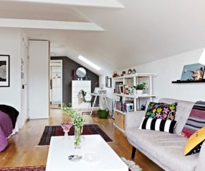 Small attic apartment with balcony in Gothenburg