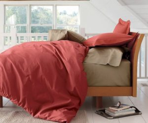 Energizing Sunflower Organic Duvet Cover And Sham · Bold Red Duvet Cover/Comforter  Cover And Sham