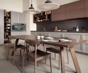 The stylish Stone wooden kitchen furniture
