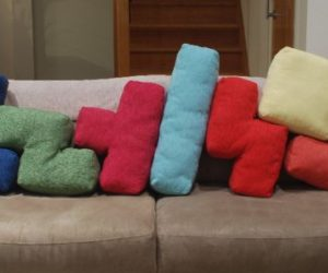 Playful Tetris Cushions