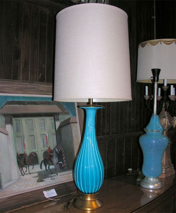 Eye Catching Turquoise Table Lamp