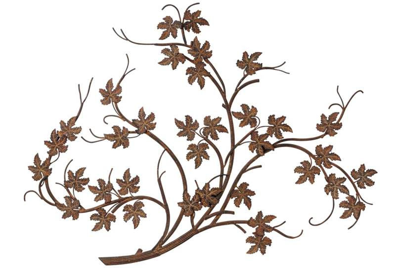 Maple Leaf Branch Metal Wall Art