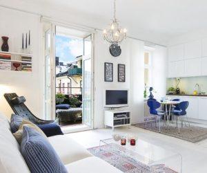 Bon ... Small Apartment With A Swedish Traditional Interior Design