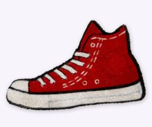 Red High-Top Doormat