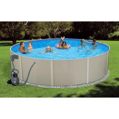 Round metal wall swimming pool for Swimmingpool stahlwandbecken rund