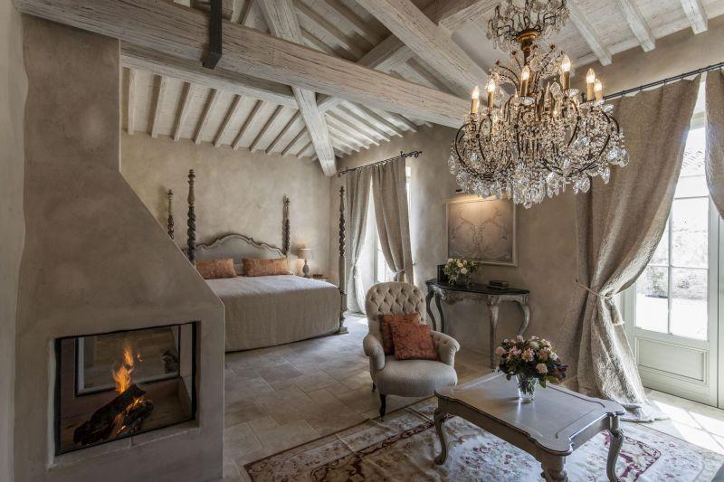 Borgo Santo Pietro hotel bedroom chandelier