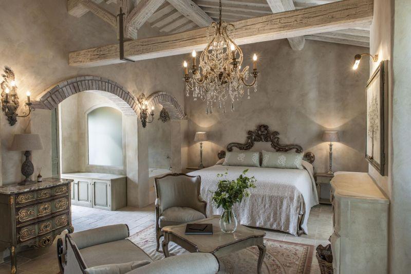 Borgo Santo Pietro hotel bedroom decor