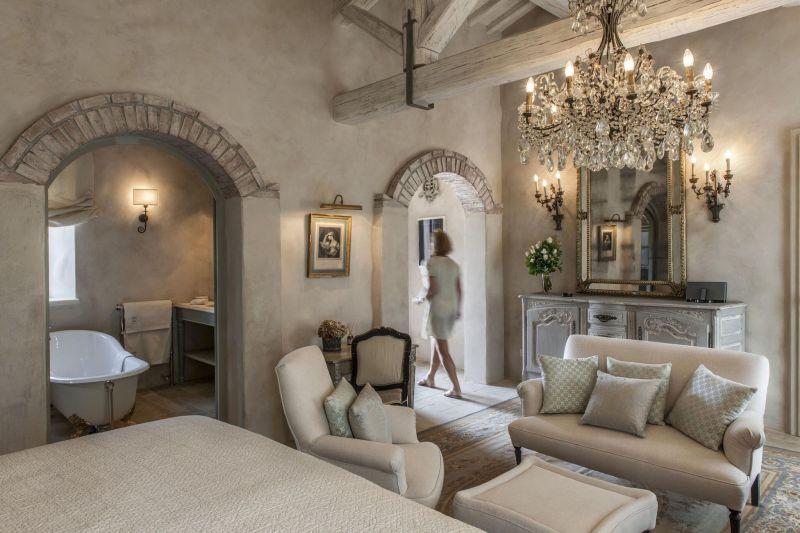 Borgo Santo Pietro hotel bedroom suite