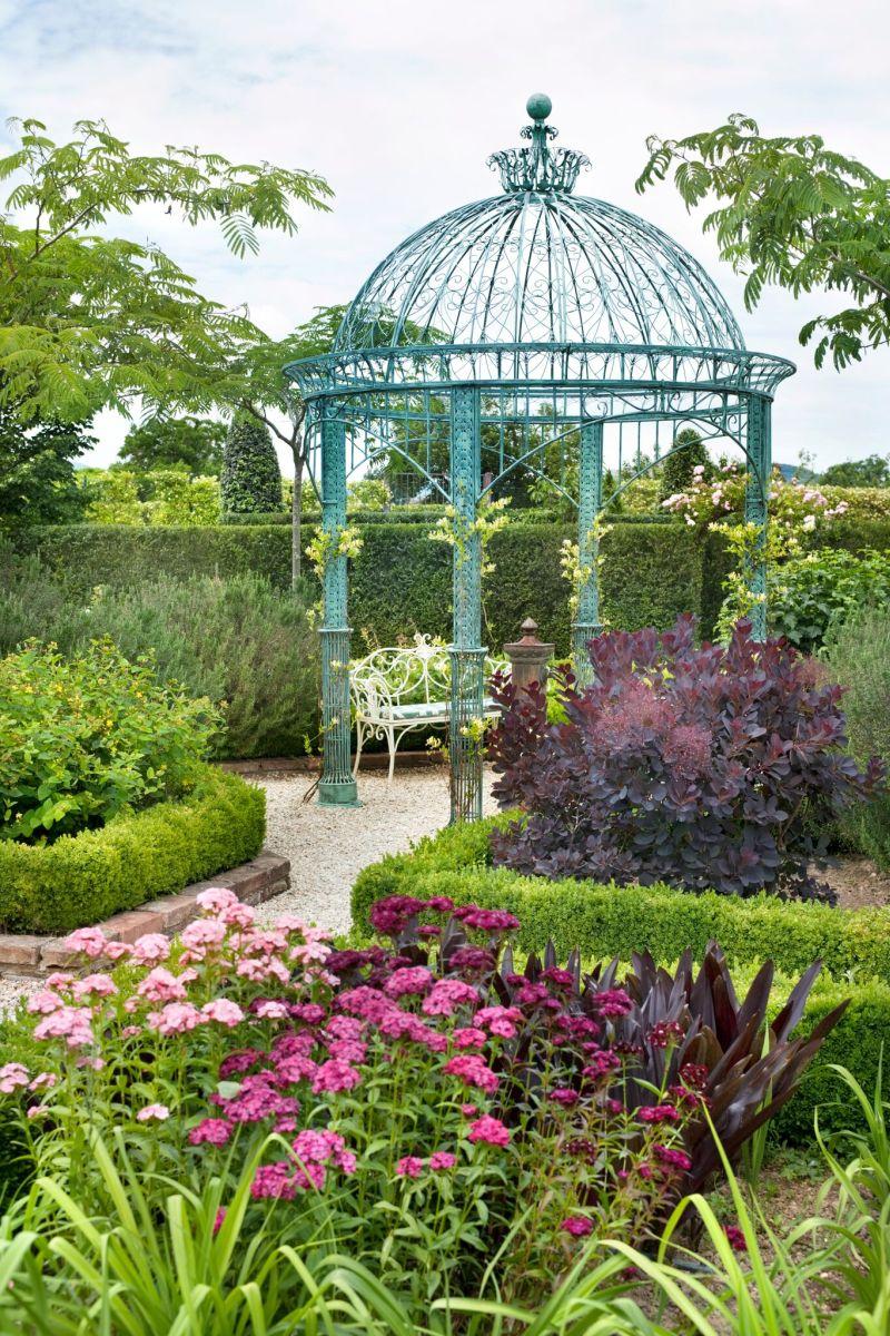Borgo Santo Pietro hotel garden blue gazebo