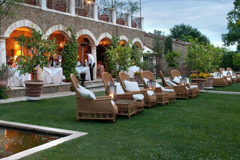 Borgo Santo Pietro hotel garden lounge