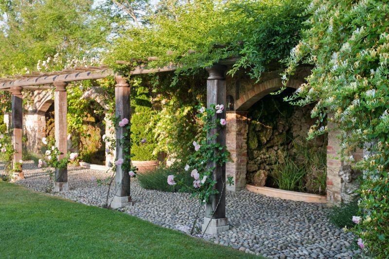 Borgo Santo Pietro hotel garden pergola