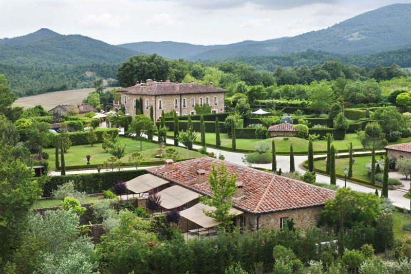Borgo Santo Pietro hotel gardens and lawns