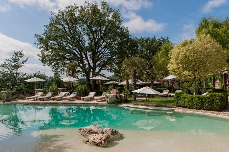 Borgo Santo Pietro hotel poolside lounge